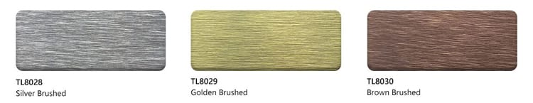golden brushed ACM Panels color
