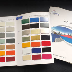 Aluminum composite panel color chart