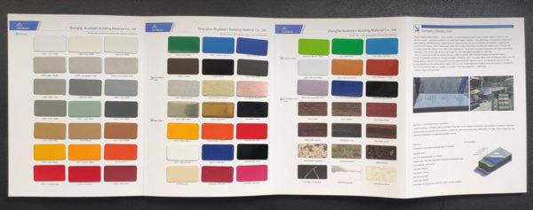 aluminum composite panel color chart