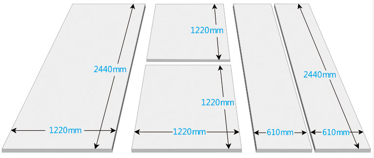 How to cut aluminium composite panel size