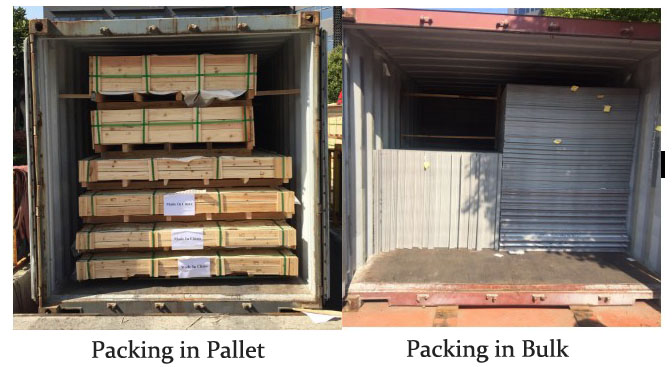 aluminium composite panel packing
